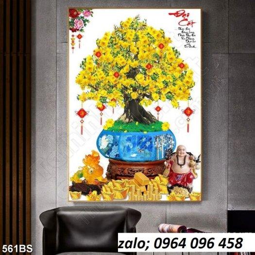 Tranh cây mai - tranh gạch 3d cây mai - GC332