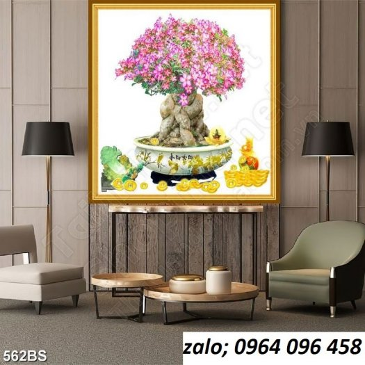Tranh cây mai - tranh gạch 3d cây mai - GC331