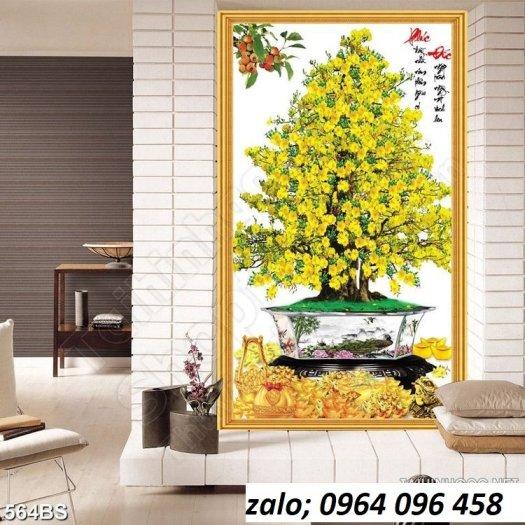 Tranh cây mai - tranh gạch 3d cây mai - GC330