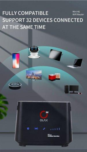 Bộ Phát Wifi 4G OLAX AX5 PRO Cat4 tốc độ cao kết nối 32 thiết bị mới4