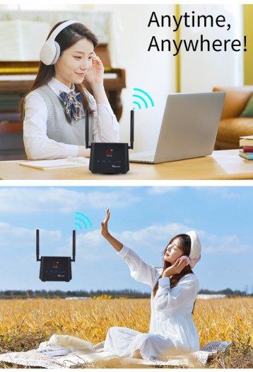Bộ Phát Wifi 4G OLAX AX5 PRO Cat4 tốc độ cao kết nối 32 thiết bị mới2