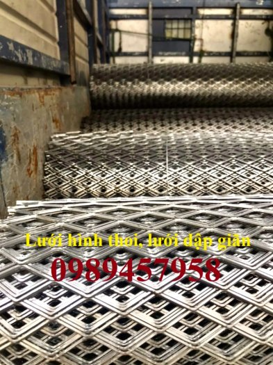 Phân phối lưới thép kéo giãn 30x60, 45x90, Lưới hình thoi trang trí , Lưới quả trám8