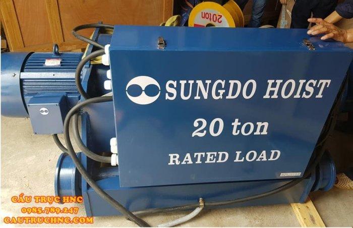 Pa lăng 3 tấn dầm đôi SUNGDO Hàn Quốc3