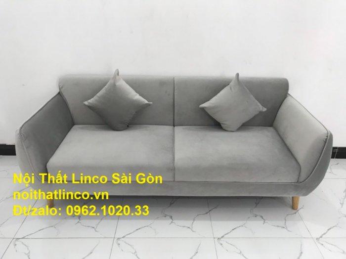 Bộ bàn ghế salon sopha băng văng xám lông chuột giá rẻ ở tại Nội thất Linco Sài Gòn2