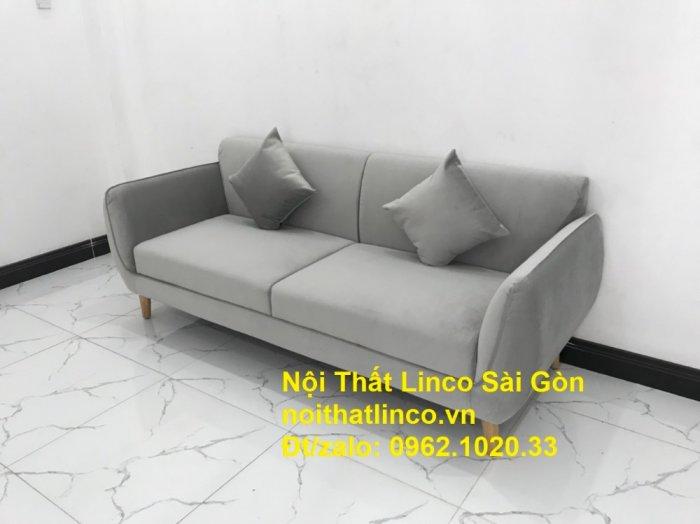 Bộ bàn ghế salon sopha băng văng xám lông chuột giá rẻ ở tại Nội thất Linco Sài Gòn1