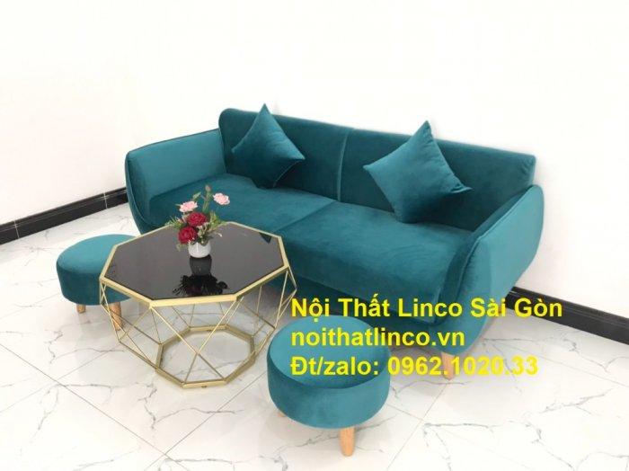 Bộ ghế salon sopha xanh cổ vịt giá rẻ | salong xanh lá cây phòng khách đẹp | Nội thất Linco Sài Gòn10