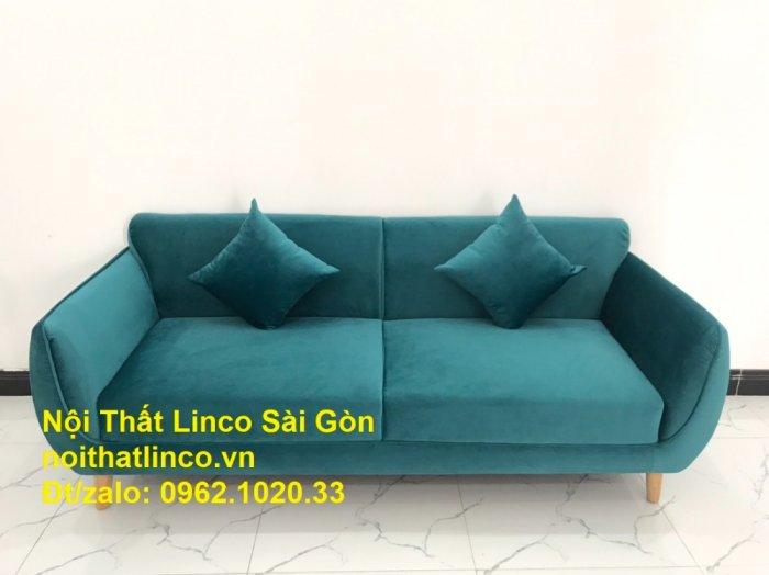 Bộ ghế salon sopha xanh cổ vịt giá rẻ | salong xanh lá cây phòng khách đẹp | Nội thất Linco Sài Gòn2