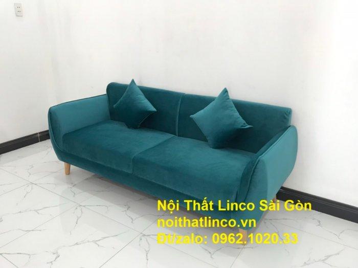 Bộ ghế salon sopha xanh cổ vịt giá rẻ | salong xanh lá cây phòng khách đẹp | Nội thất Linco Sài Gòn1