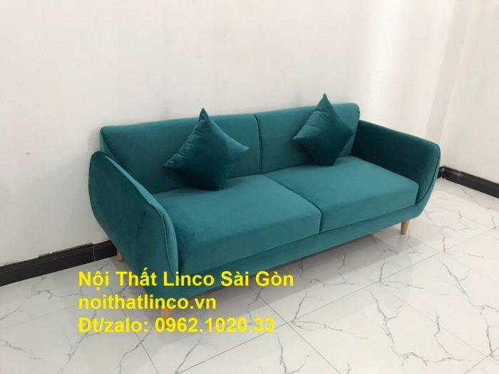 Bộ ghế salon sopha xanh cổ vịt giá rẻ | salong xanh lá cây phòng khách đẹp | Nội thất Linco Sài Gòn0