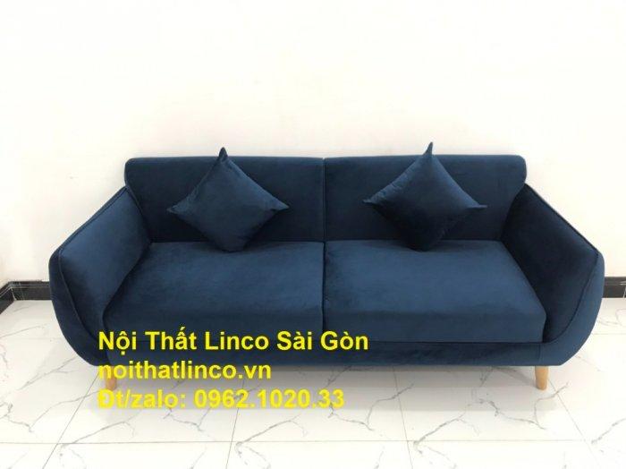Bộ bàn ghế sofa băng văng 1m9 xanh dương đậm giá rẻ Nội thất Linco Sài Gòn2