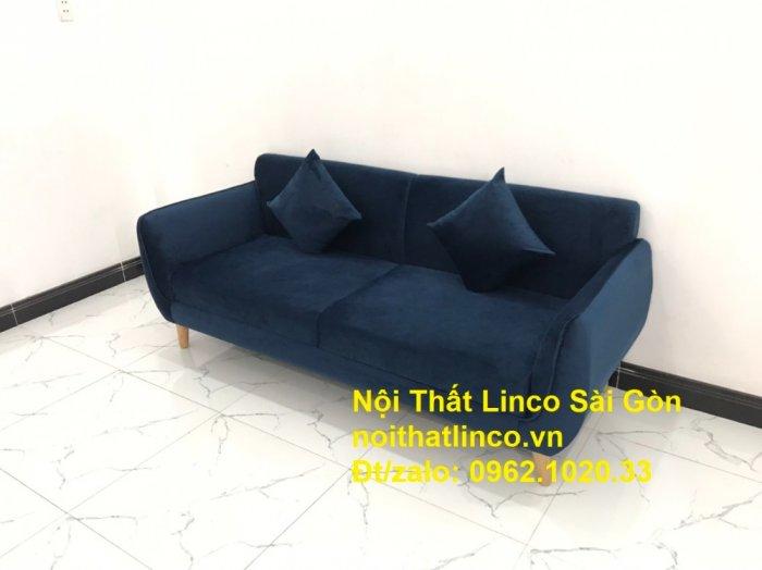 Bộ bàn ghế sofa băng văng 1m9 xanh dương đậm giá rẻ Nội thất Linco Sài Gòn1