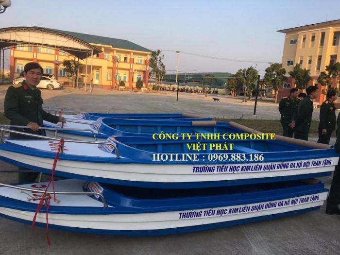 Xưởng ghe thuyền Composite Hà Nội  Việt Phát Thuyền cứu trợ lũ lụt, thuyền cứu hộ  thiện nguyện   -09698831861