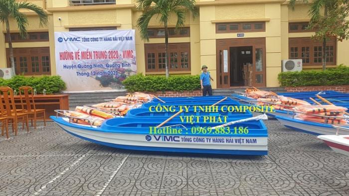 Xưởng ghe thuyền Composite Hà Nội  Việt Phát Thuyền cứu trợ lũ lụt, thuyền cứu hộ  thiện nguyện   -09698831862