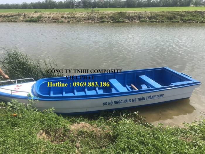 Thuyền composite dài 6m rộng 1.7m tải trọng 20 người cứu hộ lũ lụt Quảng Bình, Quảng Trị  - 0969883186 -Composite Việt Phát13