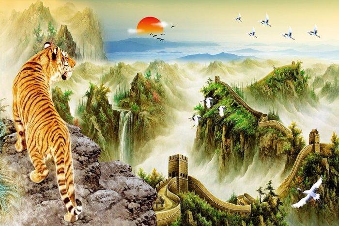 Tranh hổ - tranh gạch 3d tranh hổ phong thủy7