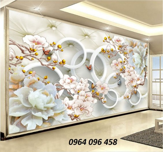 Tranh hoa ngọc - gạch tranh 3d hoa ngọc - TN667