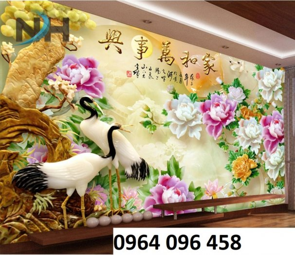 Tranh hoa ngọc - gạch tranh 3d hoa ngọc - TN664