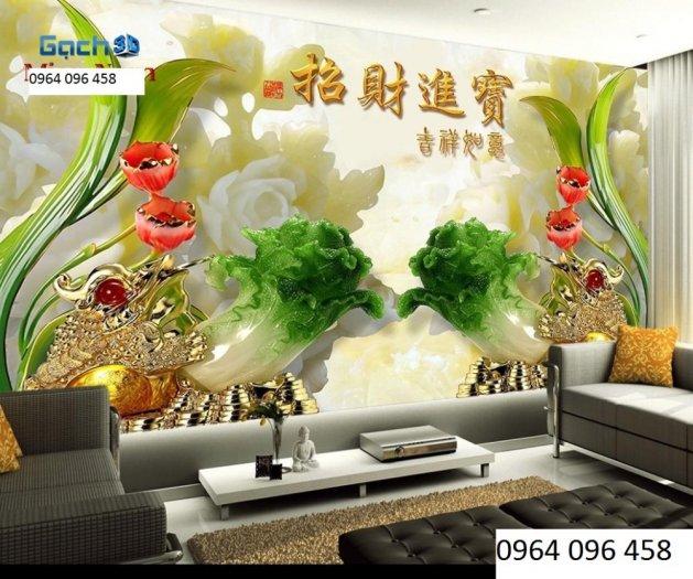 Tranh hoa ngọc - gạch tranh 3d hoa ngọc - TN661