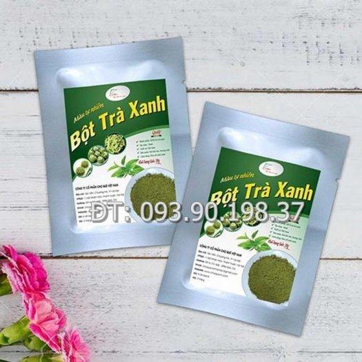 Bột màu tự nhiên trà xanh làm bánh, rau câu, kẹo dẻo0
