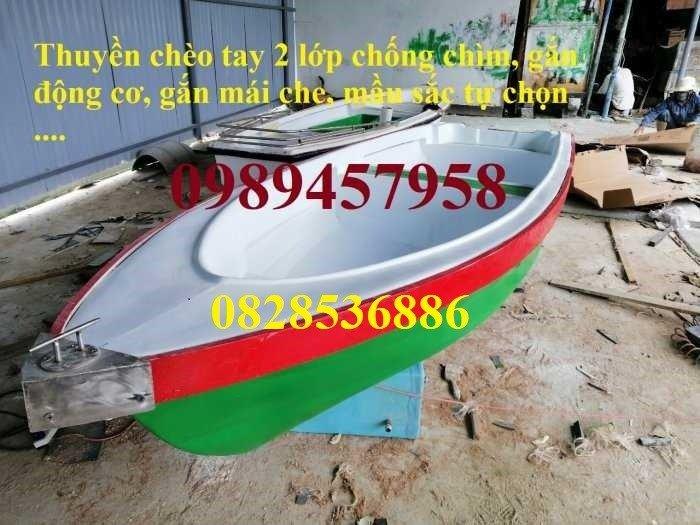 Thuyền nhựa chèo tay 4 người, 6 người, thuyền có mái che, Thuyền du lịch(liên hệ báo giá)0