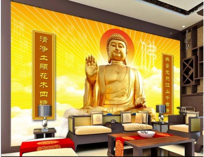 Tranh gạch trang trí phòng thờ Đức Phật2
