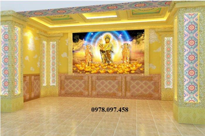 Tranh gạch trang trí phòng thờ Đức Phật1