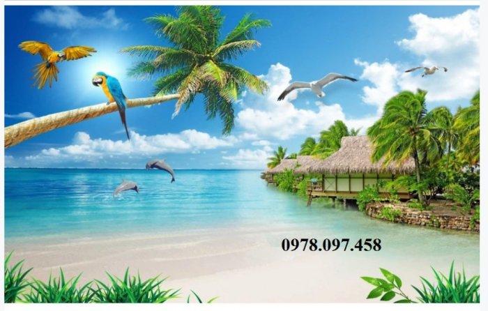 Tranh ốp tường - tranh bãi biển2