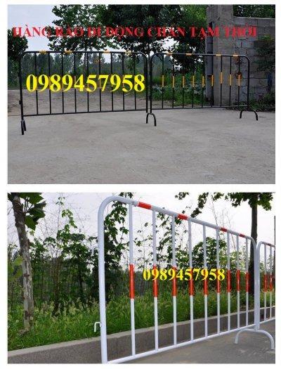 Gia công Khung hàng rào di động gắn bánh xe 1mx2m, 1,2mx2m, 1,5mx 2m10