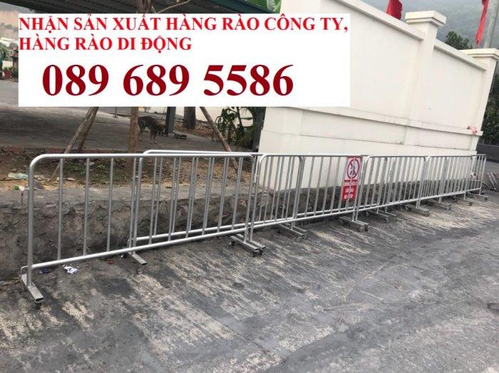 Gia công Khung hàng rào di động gắn bánh xe 1mx2m, 1,2mx2m, 1,5mx 2m7