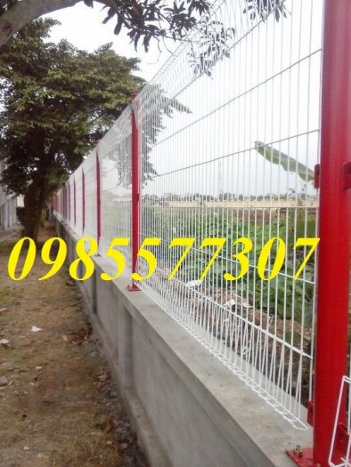 Lưới hàng rào uốn sóng,hàng rào gập đầu tam giác,hàng rào mạ kẽm sơn tĩnh điện4