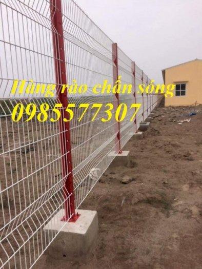 Lưới hàng rào uốn sóng,hàng rào gập đầu tam giác,hàng rào mạ kẽm sơn tĩnh điện3