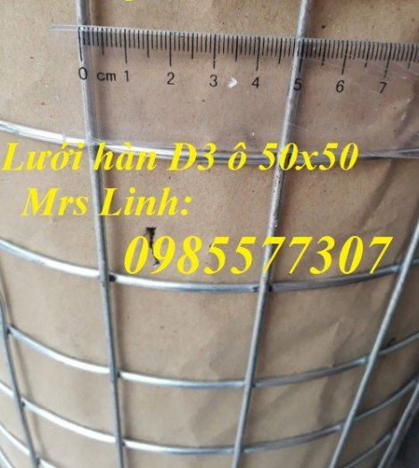 Lưới thép hàn mạ kẽm D3 a50 x 50, hàng có sẵn giá tốt2