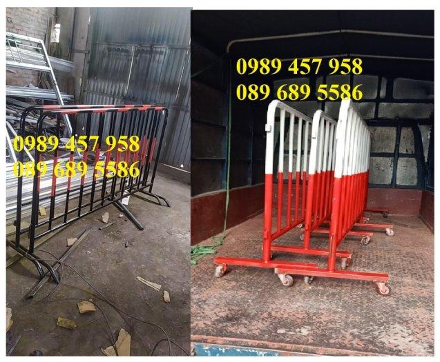 Hàng rào barie phân luồng giao thông, hàng rào an ninh mạ kẽm4