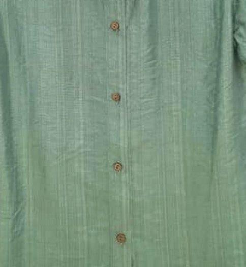 Áo sơ mi nữ ngắn tay màu xanh trơn thời trang tự thiết kế A3.10