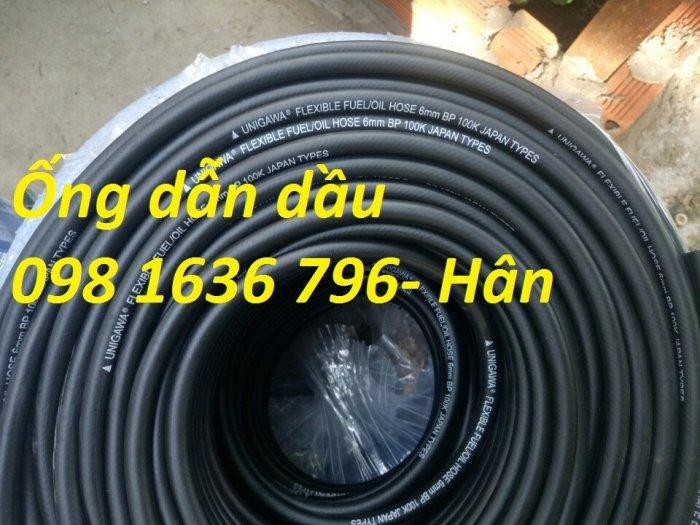Ống cao su dẫn dầu đen trơn phi 6mm7