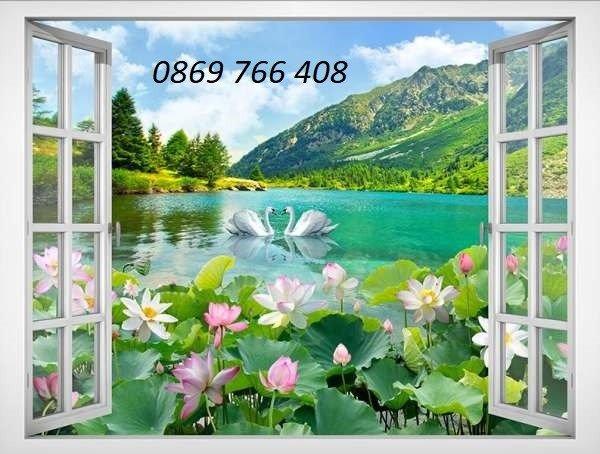 Tranh gạch-tranh cửa sổ 3D7