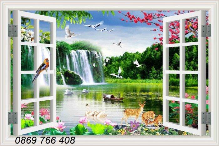 Tranh gạch-tranh cửa sổ 3D5