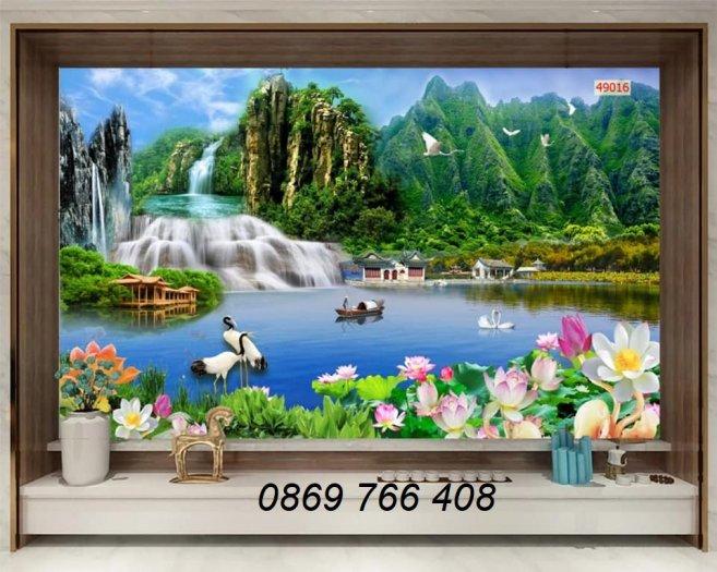 Tranh phong cảnh-tranh gạch 3D non nước5