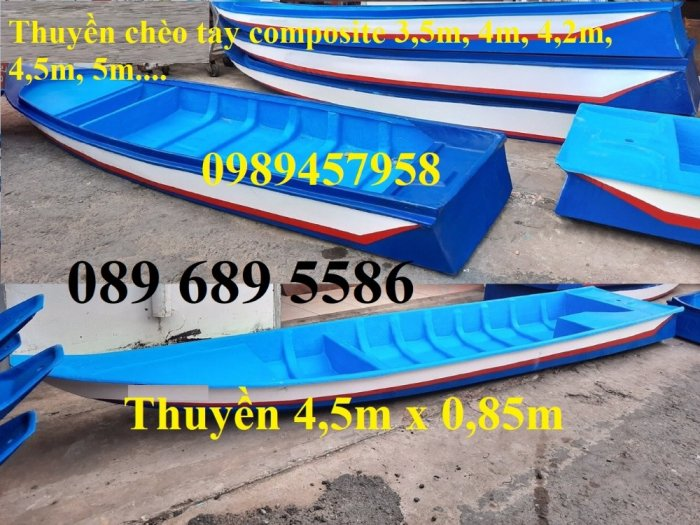 Thuyền nhựa 3m, Thuyền composite 2,4m 3m, 3,5m 4m, 4,6m 5m - Thuyền chèo tay7