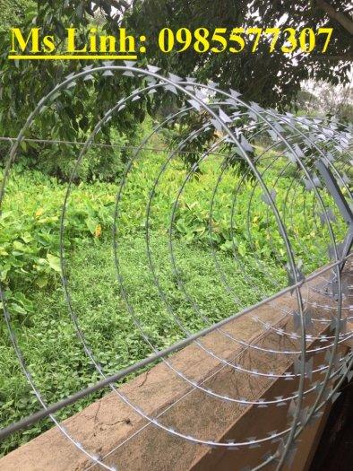Cung cấp và thi công dây thép gai hình dao chống trộm giá rẻ tại Hà Nội4
