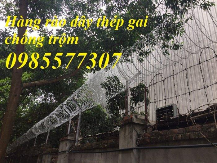 Cung cấp và thi công dây thép gai hình dao chống trộm giá rẻ tại Hà Nội0