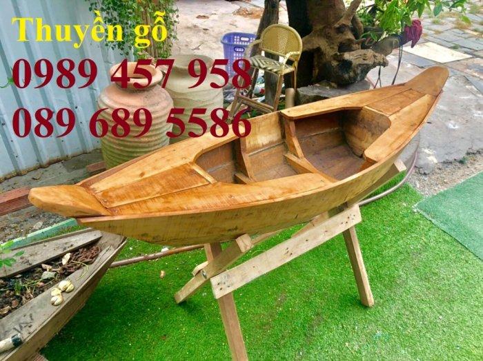 Đóng thuyền gỗ ba lá 3m, Thuyền 3,5m, Thuyền trang trí 4m theo yêu cầu6