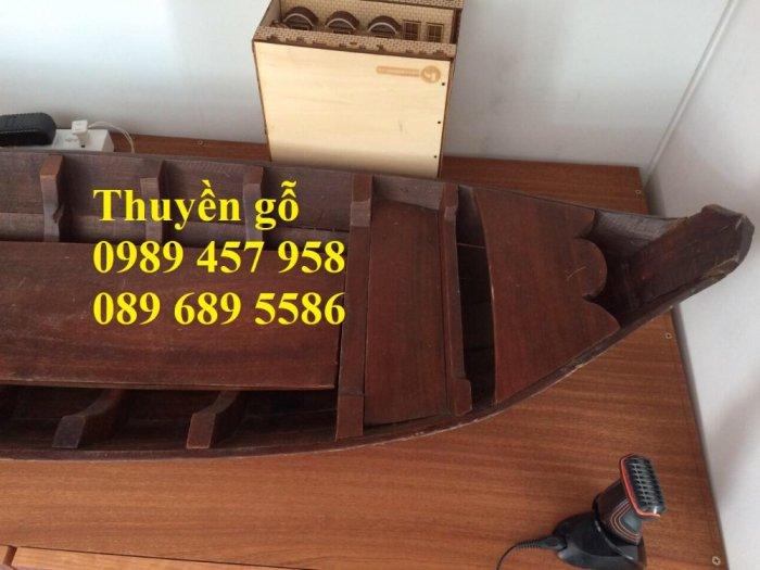 Đóng thuyền gỗ ba lá 3m, Thuyền 3,5m, Thuyền trang trí 4m theo yêu cầu5
