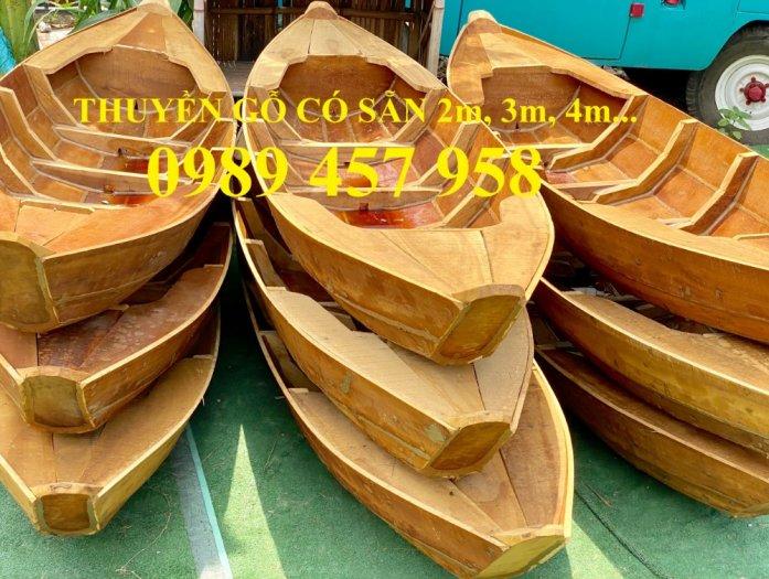 Đóng thuyền gỗ ba lá 3m, Thuyền 3,5m, Thuyền trang trí 4m theo yêu cầu3