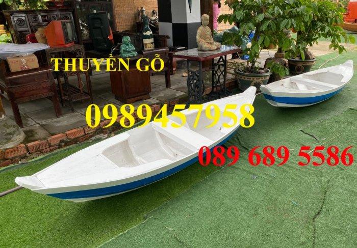 Đóng thuyền gỗ ba lá 3m, Thuyền 3,5m, Thuyền trang trí 4m theo yêu cầu2