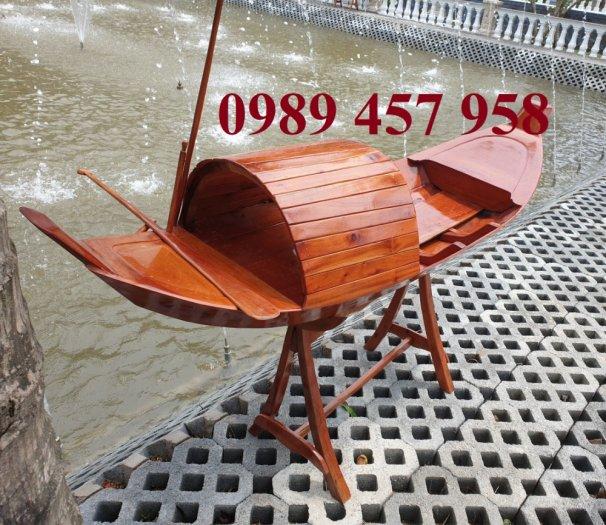 Đóng thuyền gỗ ba lá 3m, Thuyền 3,5m, Thuyền trang trí 4m theo yêu cầu1