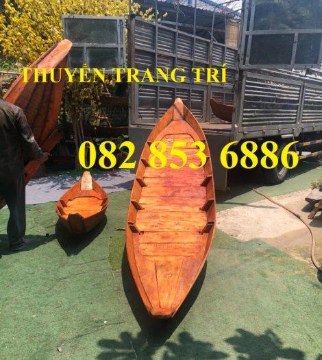 Đóng thuyền gỗ ba lá 3m, Thuyền 3,5m, Thuyền trang trí 4m theo yêu cầu0