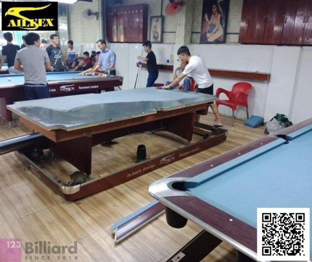 [Bàn bida Lỗ/ Pool Table] Bàn bida Aileex 9019 màu Nâu6