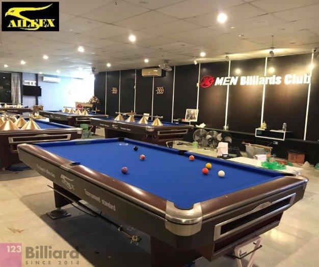 [Bàn bida Lỗ/ Pool Table] Bàn bida Aileex 9019 màu Nâu1