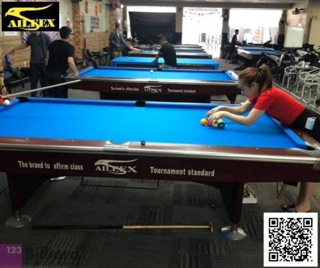 [Bàn bida Lỗ/ Pool Table] Bàn bida Aileex 9019 màu Nâu0